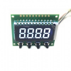 White On Black Segment LCD With PCB Board