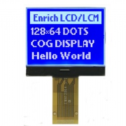 Small Size 128x64 Blue Graphic LCD Module