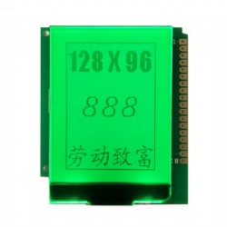 128x96 Graphic COG LCD Display With Board