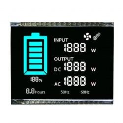 Custom Black Segment LCD Display White On Black