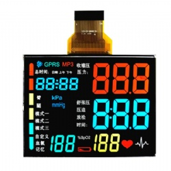VA BTN LCD Display Black Background With Different Color For Medical