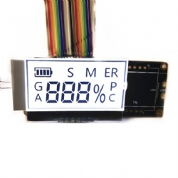 Custom TN Segment COG LCD Display Chip On Glass